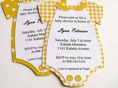 Onesie BABY SHOWER Invitations by StephanieMatsunaka on Etsy, $17.00