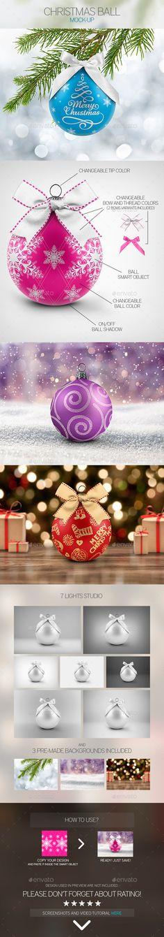 Christmas Ball Mock-Up - Miscellaneous Print