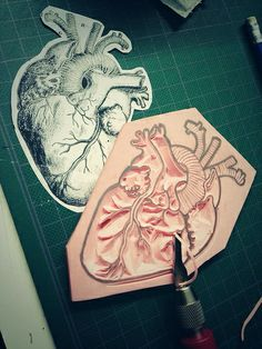 Heart stamp process