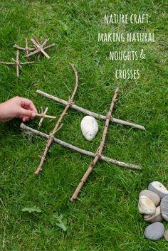 Nature craft: making natural noughts and crosses