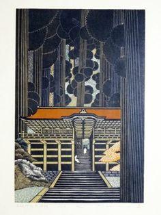 Morimura Ray Japanese Woodblock Print Yuki Shrine | eBay