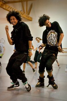 Les twins . Dance is a form of art the way a person paints the room with their…