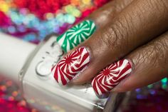 Christmas Simples: MoYou London Candy Cane Swirl Nail Art   Tutorial! Swirl Nail Art, Candy Cane, Swirls, London, Stamping Nail Art, Simple, Christmas, Christmas Christmas, Big Ben London