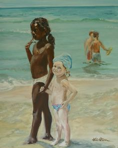 DISCRIMINATION: Here is a picture of a black and white girls holding hands at the beach. Segregation is what pretty much kept this from happening. The color of your skin shouldn't define your worth. In Maycomb, racism and discrimiantion is displayed through many ways. You should be treated the same no matter what race you are.