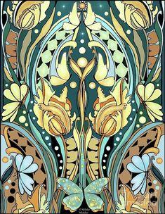 Very Art Nouveau Art Print by Melodye Whitaker