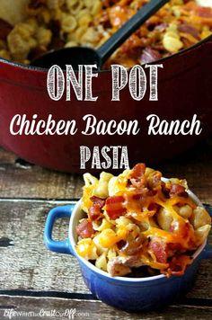 One-Pot Chicken Bacon Ranch Pasta