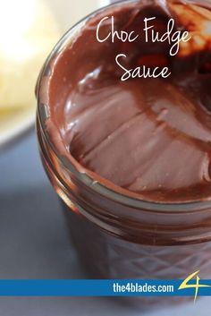 Thermomix Choc Fudge Sauce Ingredients: Sweetened condensed milk, dark chocolate, vanilla bean paste.
