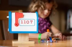 {DIY Family Mailbox } Tips for connecting with your little one...