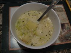 Leek and Potato Soup - Made this last night - it was awesome - did puree half of it in the food processor to give a creamier consistency