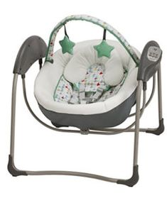 Comfort your little one wherever you are with the Graco Glider Lite Swing. The Glider Lite's six gliding speeds mimic the soothing cuddling motions that baby loves while in your arms, but from the com Plug In Baby Swing, Baby Swing Set, Portable Baby Swing, Kids Swing, Graco Baby Swing, Rocker Napper, Baby Glider, Cute Babies, Layette
