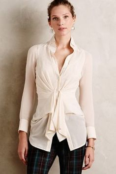 Byron Lars Rhapsody Tie-Front Blouse #anthrofave