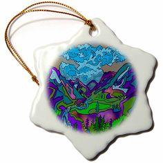 #ornament #homedecor #art #christmas #tree #ceramic #star #amazon #gifts #shopping Amazon.com: DYLAN SEIBOLD - LINE ART - ALPINE MOUNTAINS - 3 inch Snowflake Porcelain Ornament (orn_244478_1): Home