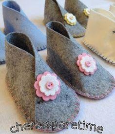 cheriesparetime: Wool Felt Baby Shoes
