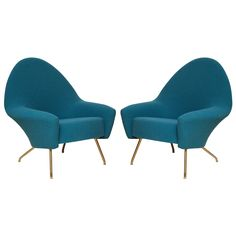 Pair of 770 Armchairs by Joseph André Motte