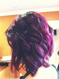 Stunning hair color for short hair.