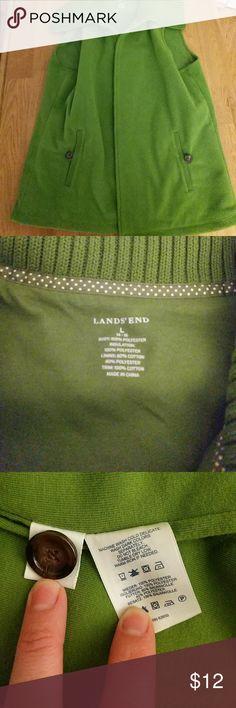 Selling this Land's End green fleece vest on Poshmark! My username is: hollyroseg. #shopmycloset #poshmark #fashion #shopping #style #forsale #Lands' End #Jackets & Blazers