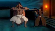 Ikkaku & his Zanpakutō doing their Lucky Dance
