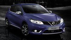 Nissan Pulsar μπλε - Λεπτομέρειες χρωμίου με κομψή και σπορ εμφάνιση και ομάδες προβολέων