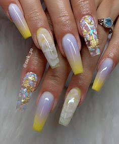 Pretty Nail Designs Ideas for This Year - Page 7 of 24 - ToMyFashion Neon Nail Designs, Cute Acrylic Nail Designs, Pretty Nail Designs, Pretty Nail Art, Nails Design, Summer Acrylic Nails, Best Acrylic Nails, Spring Nails, Summer Nails