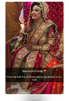 Khada Dupatta Hyderabadi Bride