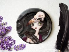The Witching Hour Pocket Mirror  3 inches Round by sandragrafik, $9.00