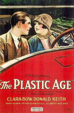 1925 The Plastic Age vintage movie poster