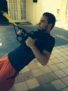 Liam working out today!
