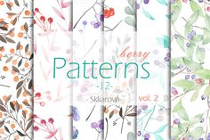berry Patterns 12, vol. 2 by Skliarova on @creativemarket