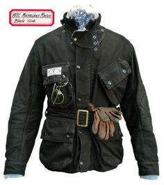 Mulholland Master by mister freedom.  Looks just like a Barbour International jacket.