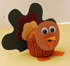 turkey muffins - super cute for thanksgiving!