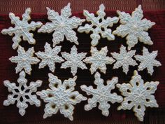 Snowflakes (plus where to buy the shapes) and lots of cookie recipes