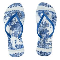 f2f651350f79 Blue Willow Flip Flops - You Have Arrived Blue Willow China