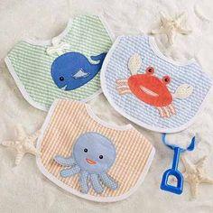 3 Baberos para bebé Littlestars - Amigos En La Playa/niño - $369.00 Envío gratis en DF en MercadoLibre