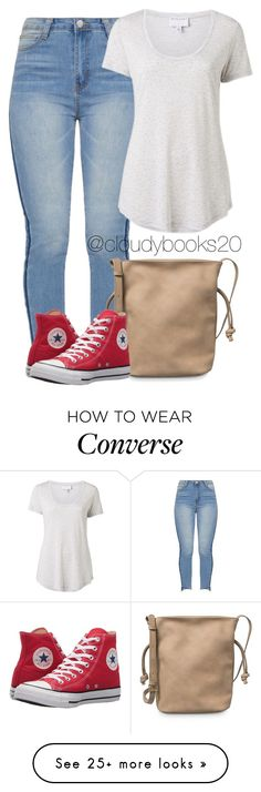 """""""A Casual Time"""" by cloudybooks on Polyvore featuring Witchery and Converse"""