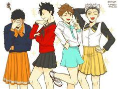 That's fit on you oikawa, kkk Haikyuu Anime Boys, M Anime, Fanarts Anime, Anime Art, Manga Haikyuu, Haikyuu Funny, Haikyuu Fanart, Kuroo Tetsurou, Haikyuu Karasuno