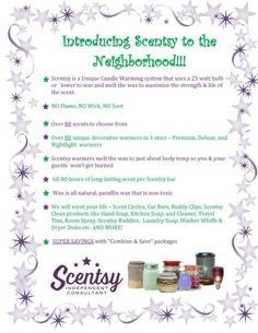 Scentsy Neighborhood http://CrainSmellsGood.scentsy.us