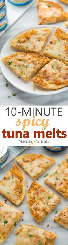 10-Minute Spicy Tuna Melts! An easy, flavorful and quick meal for times when you want something healthy, but satisfying! (Gluten-Free)