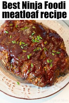 Ninja Foodi Meatloaf is part of Ninja cooking system recipes - Ninja Foodi meatloaf is the bomb! Juicy in the center with a crispy barbecue sauce on the outside All cooked in this pressure cooker and air fryer machine Ninja Recipes, Grilling Recipes, Gourmet Recipes, Crockpot Recipes, Cooking Recipes, Healthy Recipes, Dinner Recipes, Lunch Recipes, Casserole Recipes