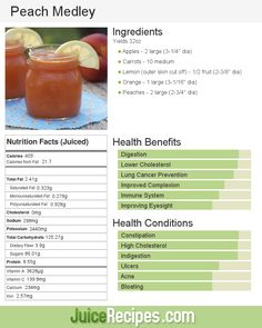 Peach Medley | Juice Recipes