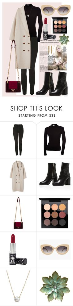 """Без названия #116"" by wolfiecindy21 ❤ liked on Polyvore featuring Topshop, Prada, MAC Cosmetics, Manic Panic NYC and Dogeared"