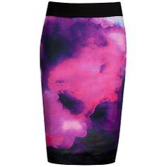 Buy Ted Baker Vienays Summer at Dusk Print Skirt, Grey Online at johnlewis.com