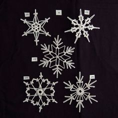 PDF Pattern for 5 Crocheted Snowflakes - Set 35
