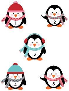 Playful Penguins File Folder Game