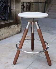 Stone Tripod Stool by SOBU