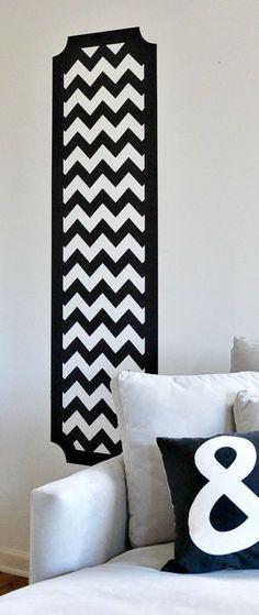 Rayas Chevron: tendencia de éxito en decoración #chevron #decoracion #deco #pared