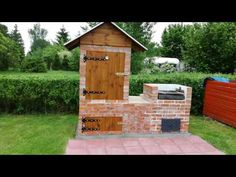 Wędzarnia i działeczka. Fire Pit Grill, Fire Pit Backyard, Smoke House Plans, Backyard Smokers, Barbecue Design, Brick Bbq, Homemade Smoker, Backyard Pavilion, Cool Fire Pits