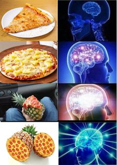 Pizza in muy pineapple Great Memes, Really Funny Memes, Stupid Funny Memes, Funny Tweets, Pizza Meme, Quality Memes, Know Your Meme, Funny Comics, School Memes