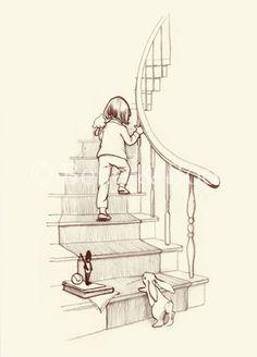 J'ai l'impression de voir exactement ma fille monter l'escalier...