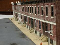 Row houses, modeler unknown. Photo by Greg Shinnie