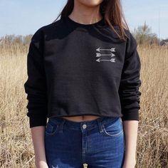 2017 new fashion hip-hop sexy short velvet long-sleeve gray black female sweatshirt arrow pattern #Affiliate